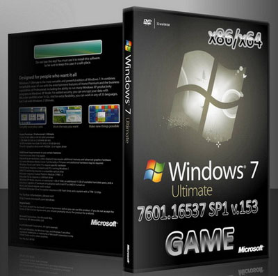 Windows 7 Ultimate x86/x64 7601.16537 SP1 v.153 en-RUs Game (2010/ENG/RUS)